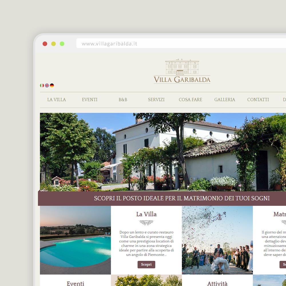 Sito Internet Villa Garibalda Tortona